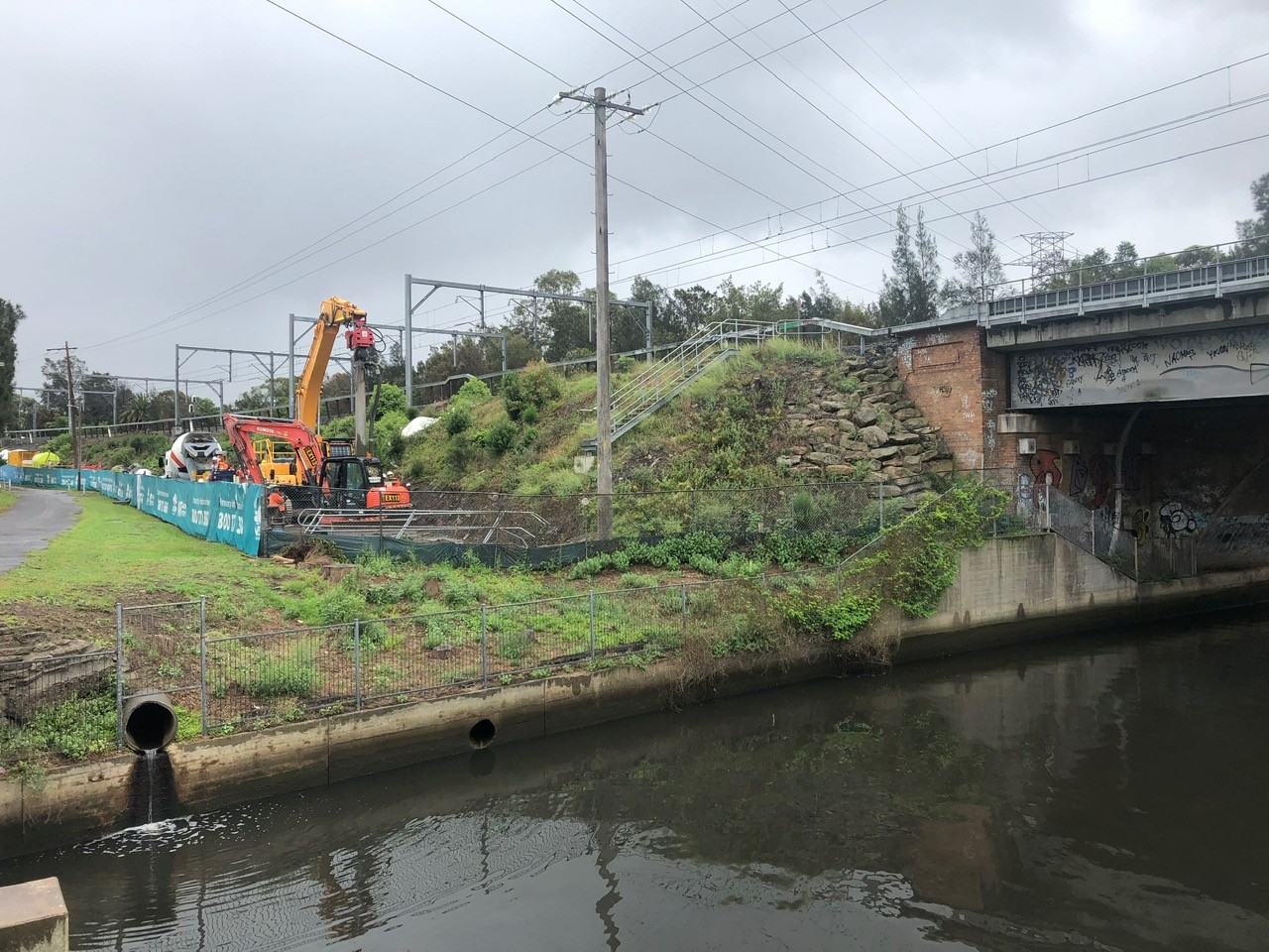 Cooks River NSW 2 - rigid inclusions - bearing capacity - slope stabilisation