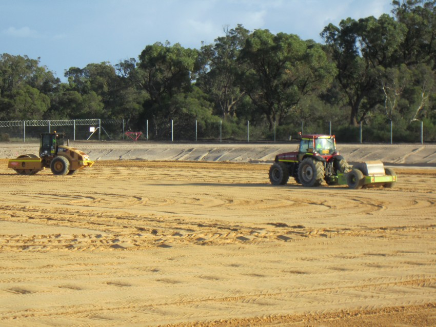 Photo of impact rolling at East Rockingham WWTP